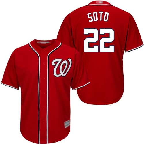 Nationals 22 Juan Soto Red Cool Base Jersey