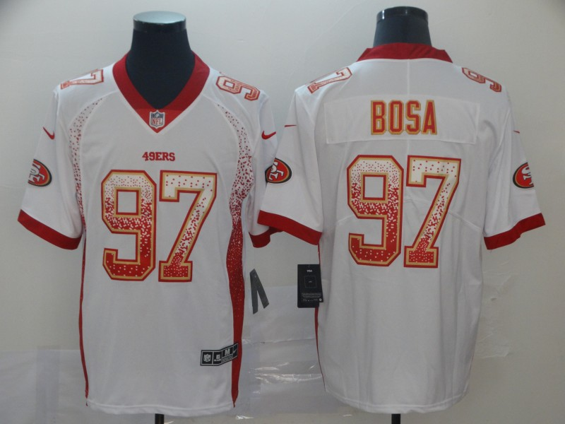 Nike 49ers 97 Nick Bosa White Drift Fashion Limited Jersey