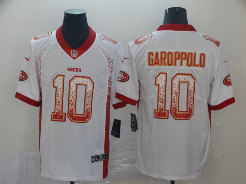 Nike 49ers 10 Jimmy Garoppolo White Drift Fashion Limited Jersey