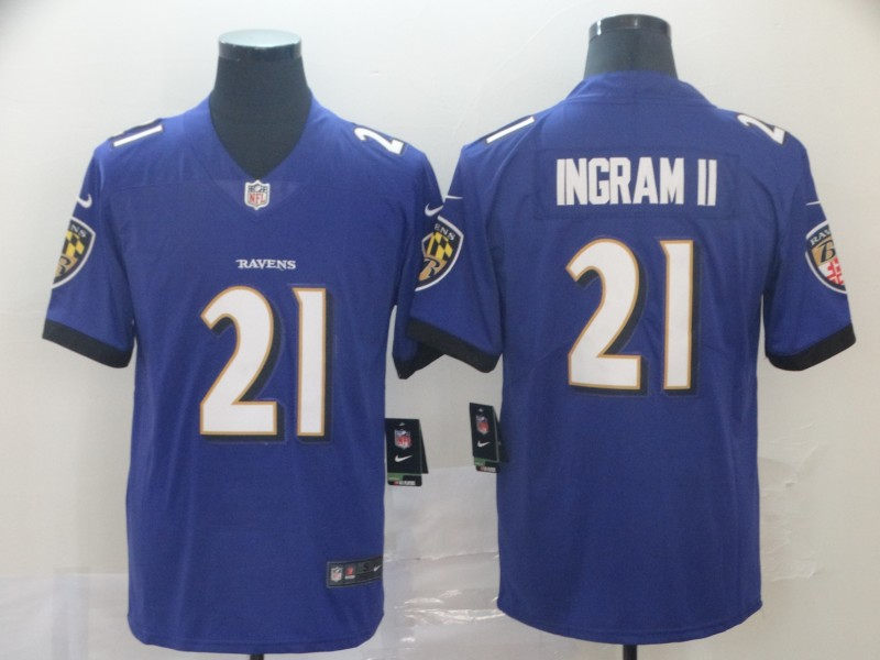 Nike Ravens 21 Mark Ingram II Purple Vapor Untouchable Limited Jersey