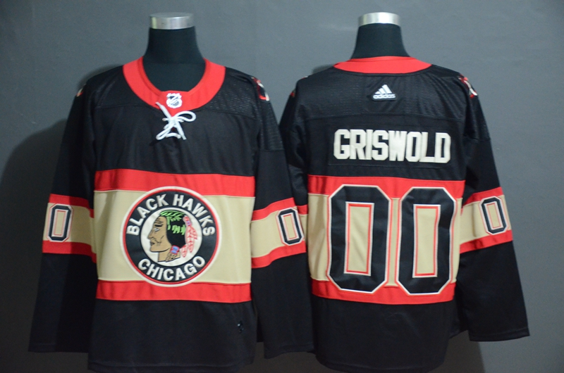 Blackhawks Customized Premier Black New Third Adidas Jersey