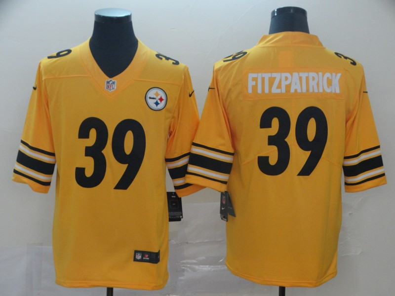 Nike Steelers 39 Minkah Fitzpatrick Yellow Inverted Legend Limited Jersey