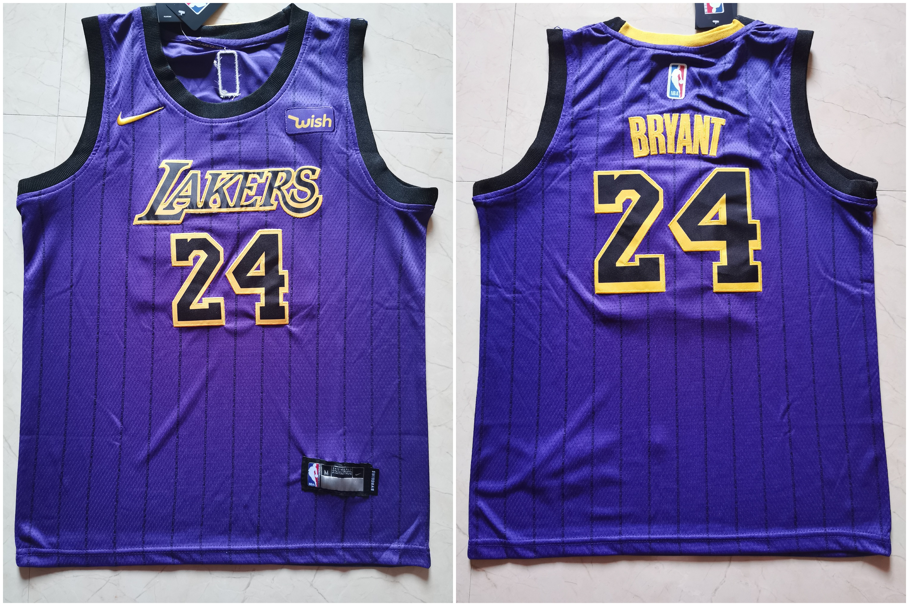 Lakers 24 Kobe Bryant Purple Youth Nike Swingman Jersey