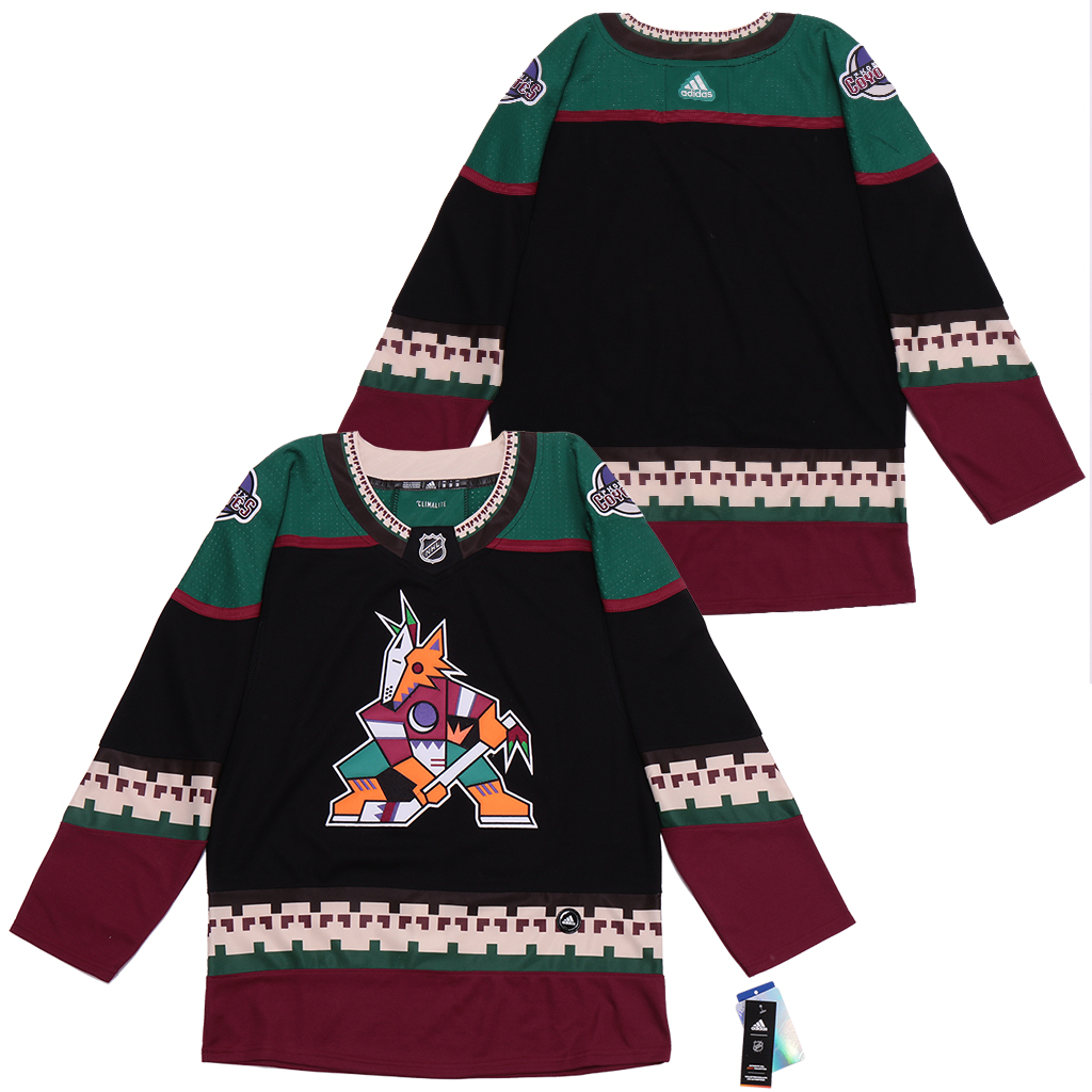 Coyotes Blank Black Adidas Jersey