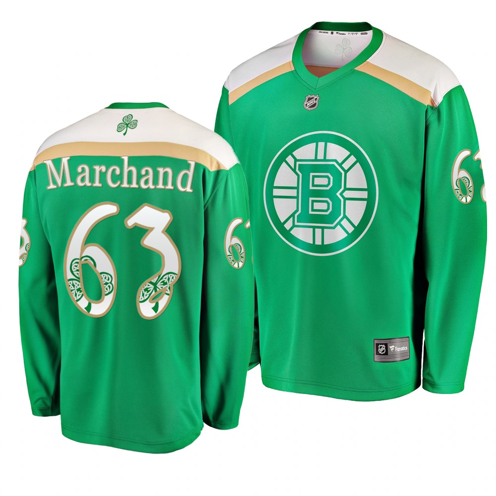 Bruins 63 Brad Marchand Green 2019 St. Patrick's Day Adidas Jersey.jpeg