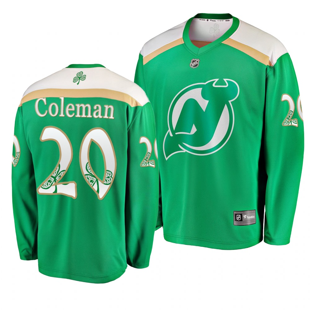 Devils 20 Blake Coleman Green 2019 St. Patrick's Day Adidas Jersey.jpeg