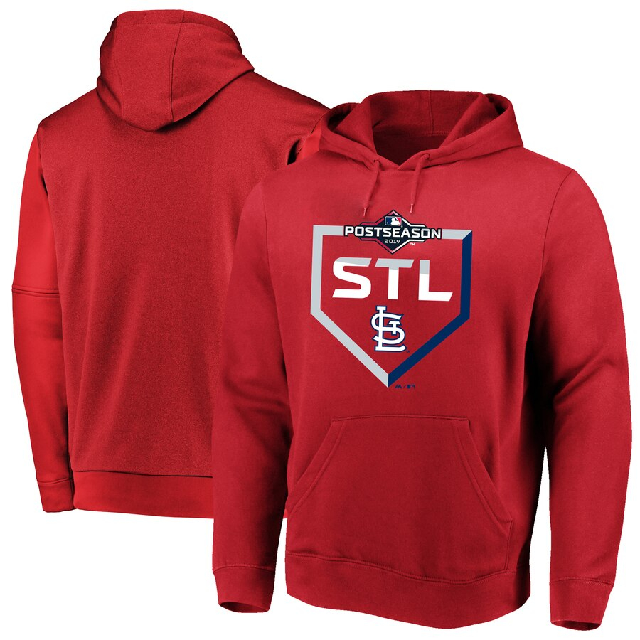 St. Louis Cardinals Majestic 2019 Postseason Big & Tall Dugout Authentic Pullover Hoodie Red