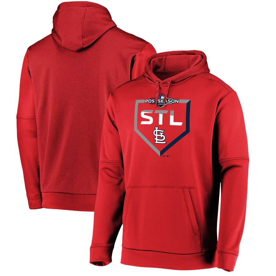 St. Louis Cardinals Majestic 2019 Postseason Dugout Authentic Pullover Hoodie Red