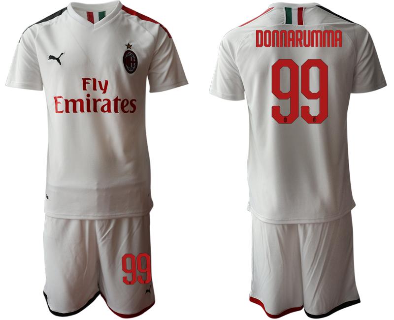 2019-20 AC Milan 99 DONNARUMMA Away Soccer Jersey