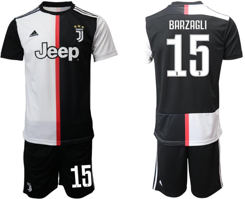 2019-20 Juventus FC 15 BARZAGLI Home Soccer Jersey