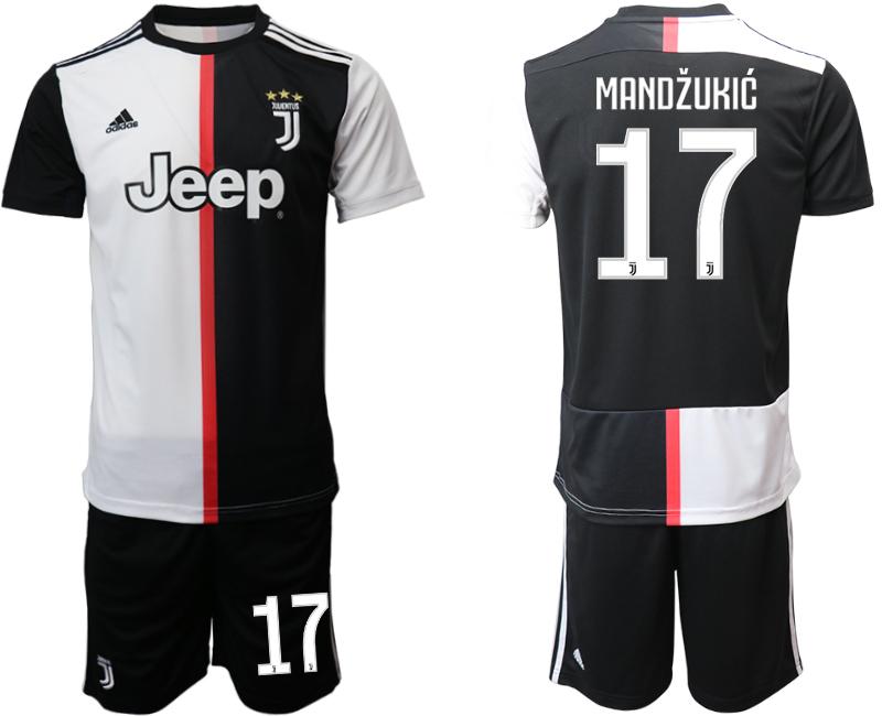 2019-20 Juventus FC 17 MANDZUKIC Home Soccer Jersey