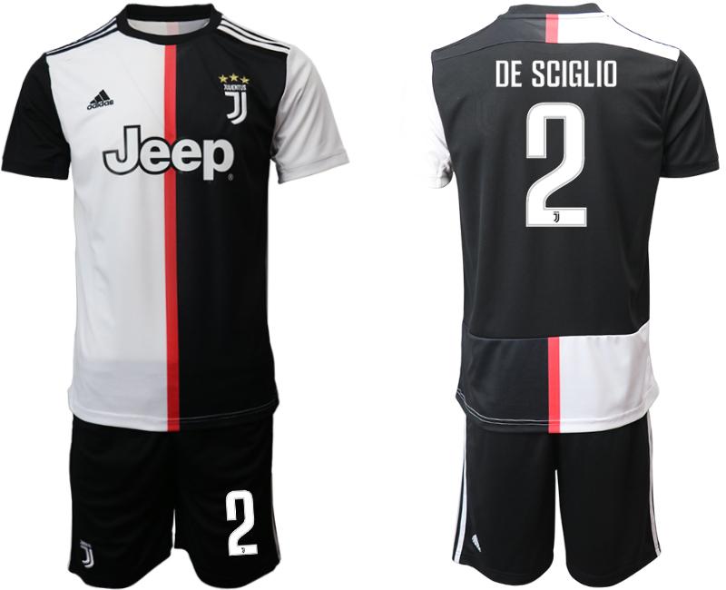 2019-20 Juventus FC 2 DE SCIGLIO Home Soccer Jersey