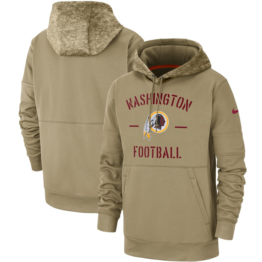 Washington Redskins 2019 Salute To Service Sideline Therma Pullover Hoodie