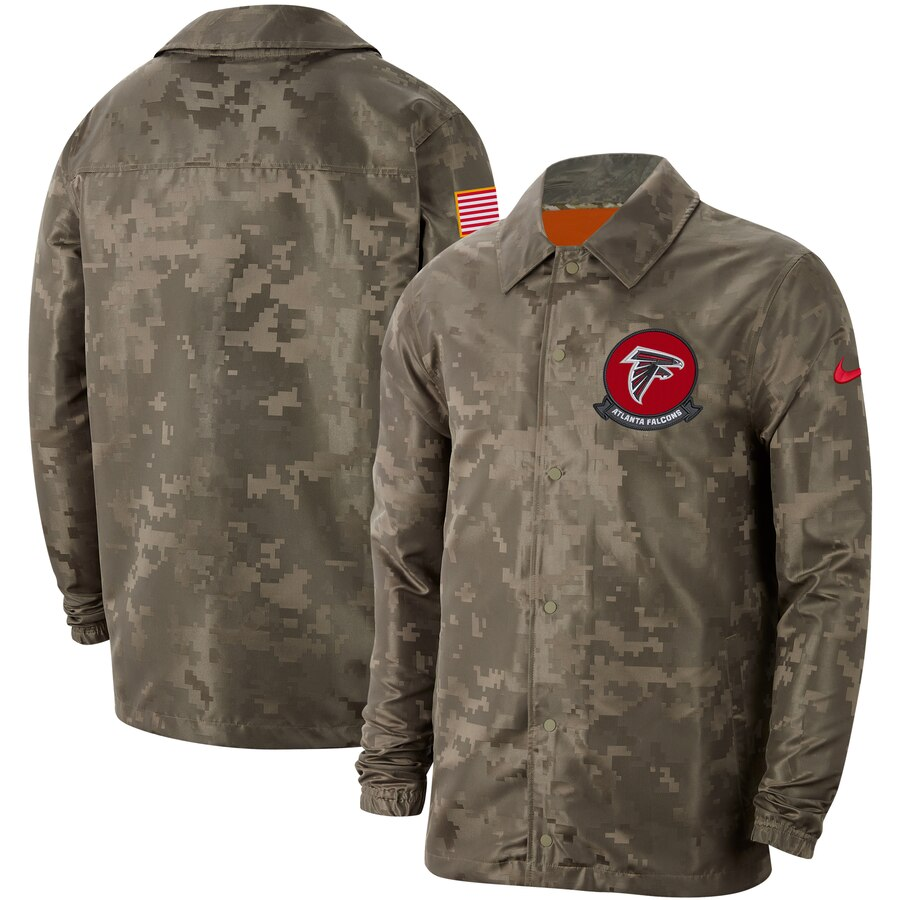 Men's Atlanta Falcons Nike Camo 2019 Salute to Service Sideline Full Zip Lightweight Jacket