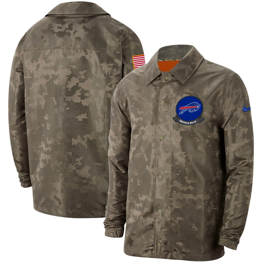 Men's Buffalo Bills Nike Camo 2019 Salute to Service Sideline Full Zip Lightweight Jacket