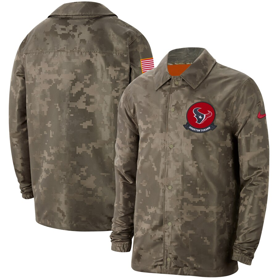 Men's Houston Texans Nike Camo 2019 Salute to Service Sideline Full Zip Lightweight Jacket