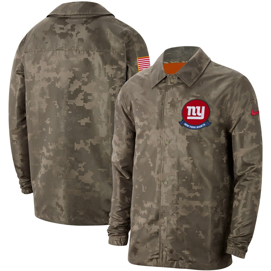 Men's New York Giants Nike Camo 2019 Salute to Service Sideline Full Zip Lightweight Jacket