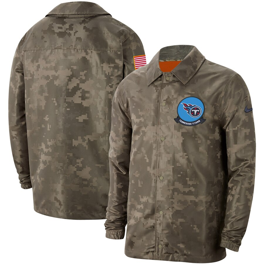 Men's Tennessee Titans Nike Camo 2019 Salute to Service Sideline Full Zip Lightweight Jacket
