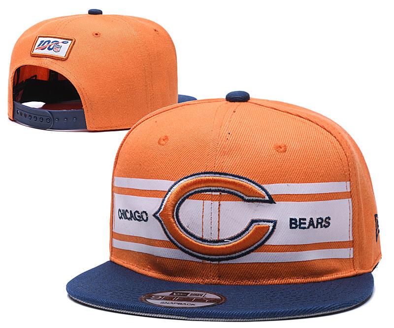 Bears Team Logo Orange 100th Season Adjustable Hat YD