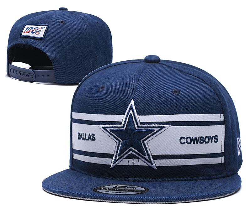 Cowboys Team Logo Navy 100th Season Adjustable Hat YD