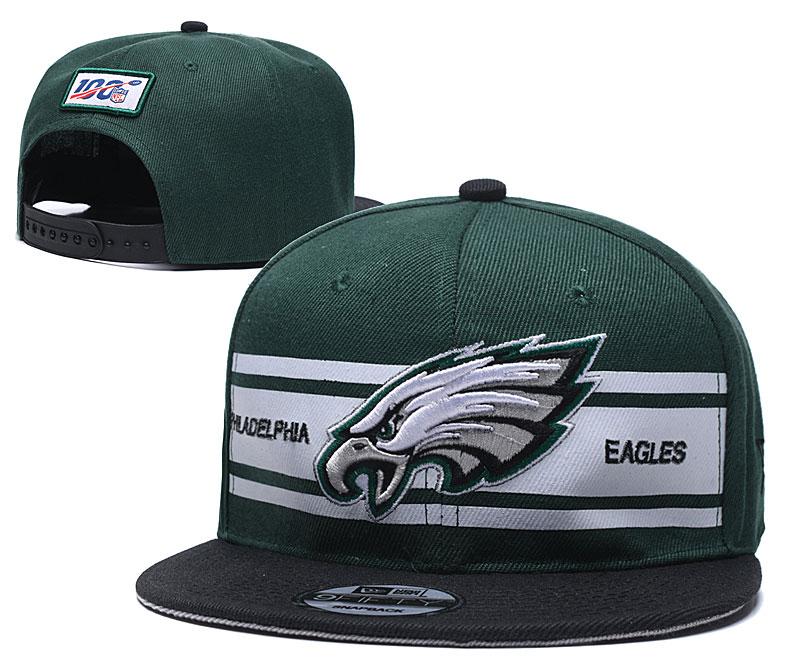 Eagles Team Logo Green 100th Season Adjustable Hat YD