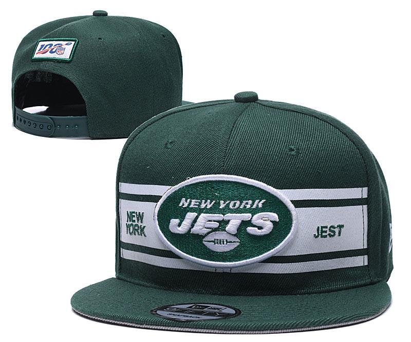 Jets Team Logo Green 100th Season Adjustable Hat YD