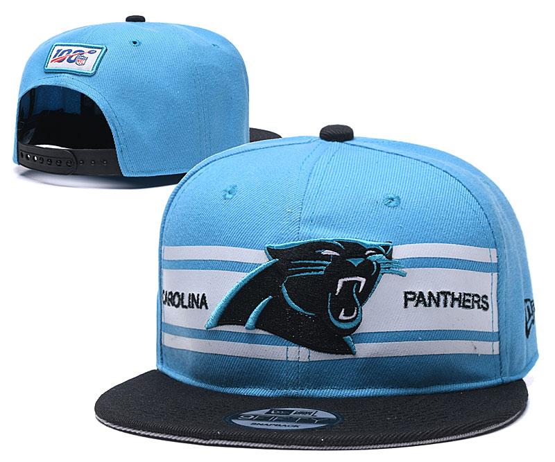 Panthers Team Logo Blue 100th Season Adjustable Hat YD