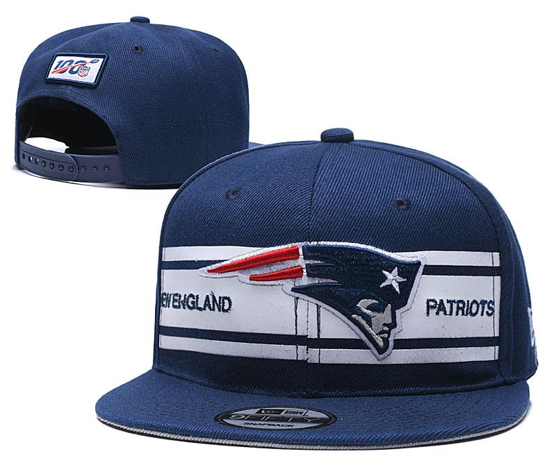 Patriots Team Logo Navy 100th Season Adjustable Hat YD