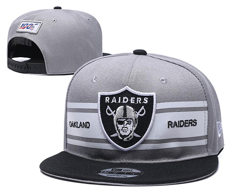 Raiders Team Logo Gray 100th Season Adjustable Hat YD