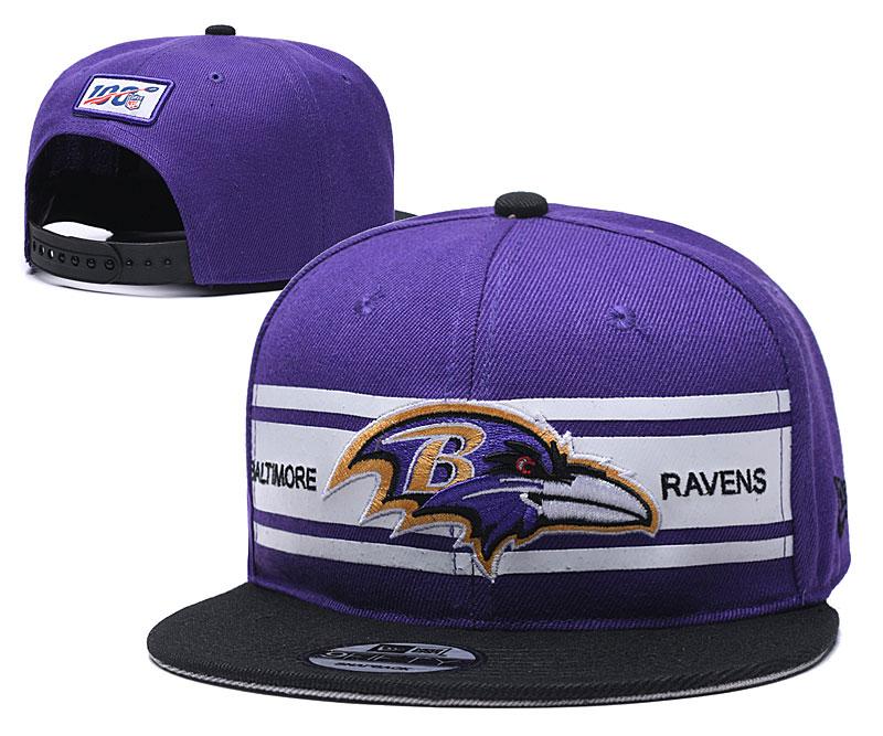 Ravens Team Logo Purple 100th Season Adjustable Hat YD