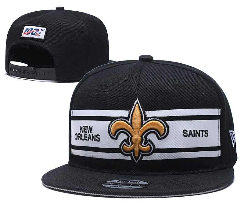 Saints Team Logo Black 100th Season Adjustable Hat YD