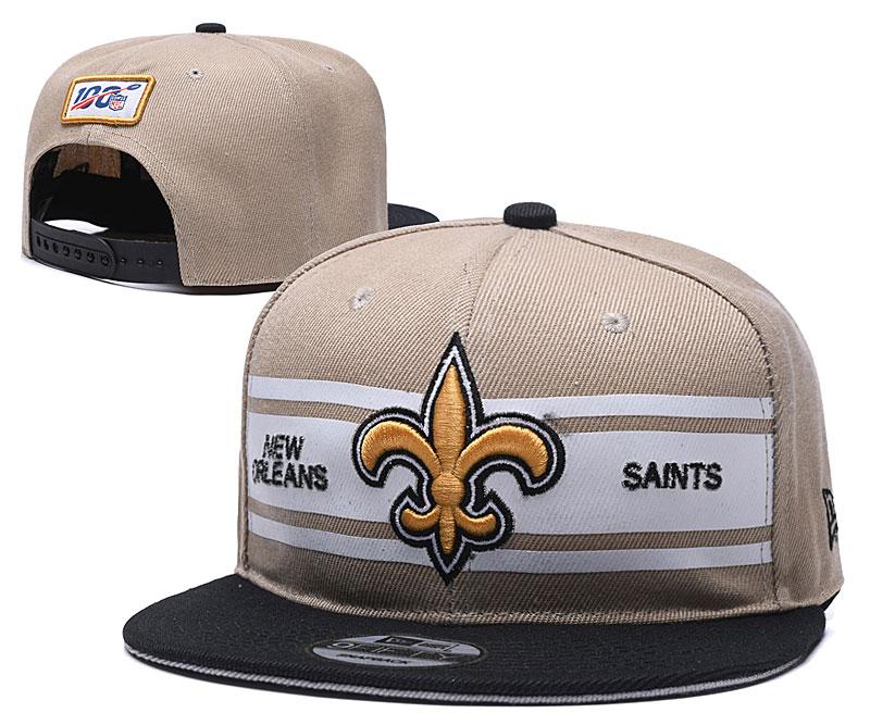 Saints Team Logo Cream 100th Season Adjustable Hat YD