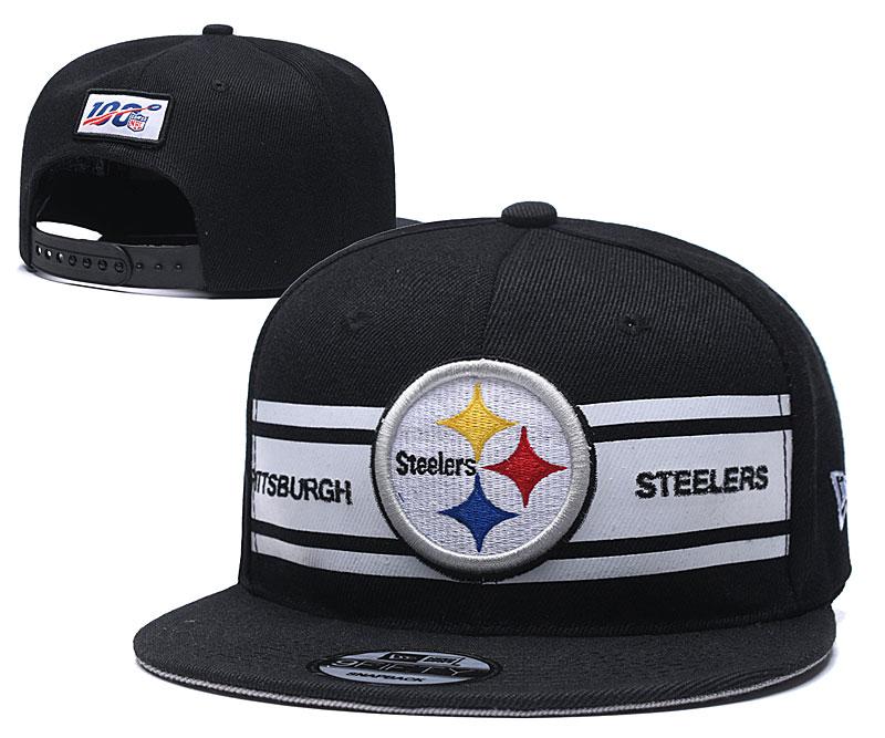Steelers Team Logo Black 100th Season Adjustable Hat YD
