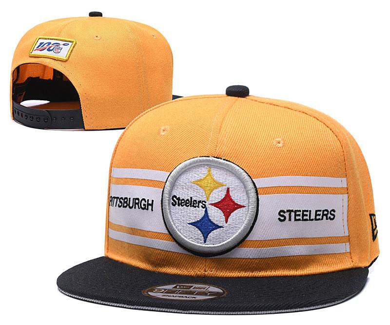 Steelers Team Logo Yellow 100th Season Adjustable Hat YD