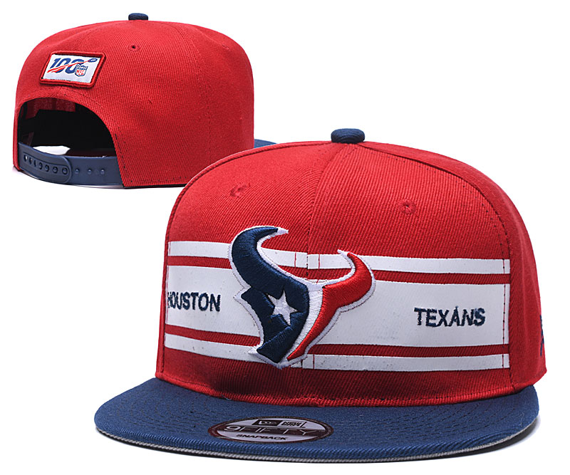 Texans Team Logo Red 100th Season Adjustable Hat YD