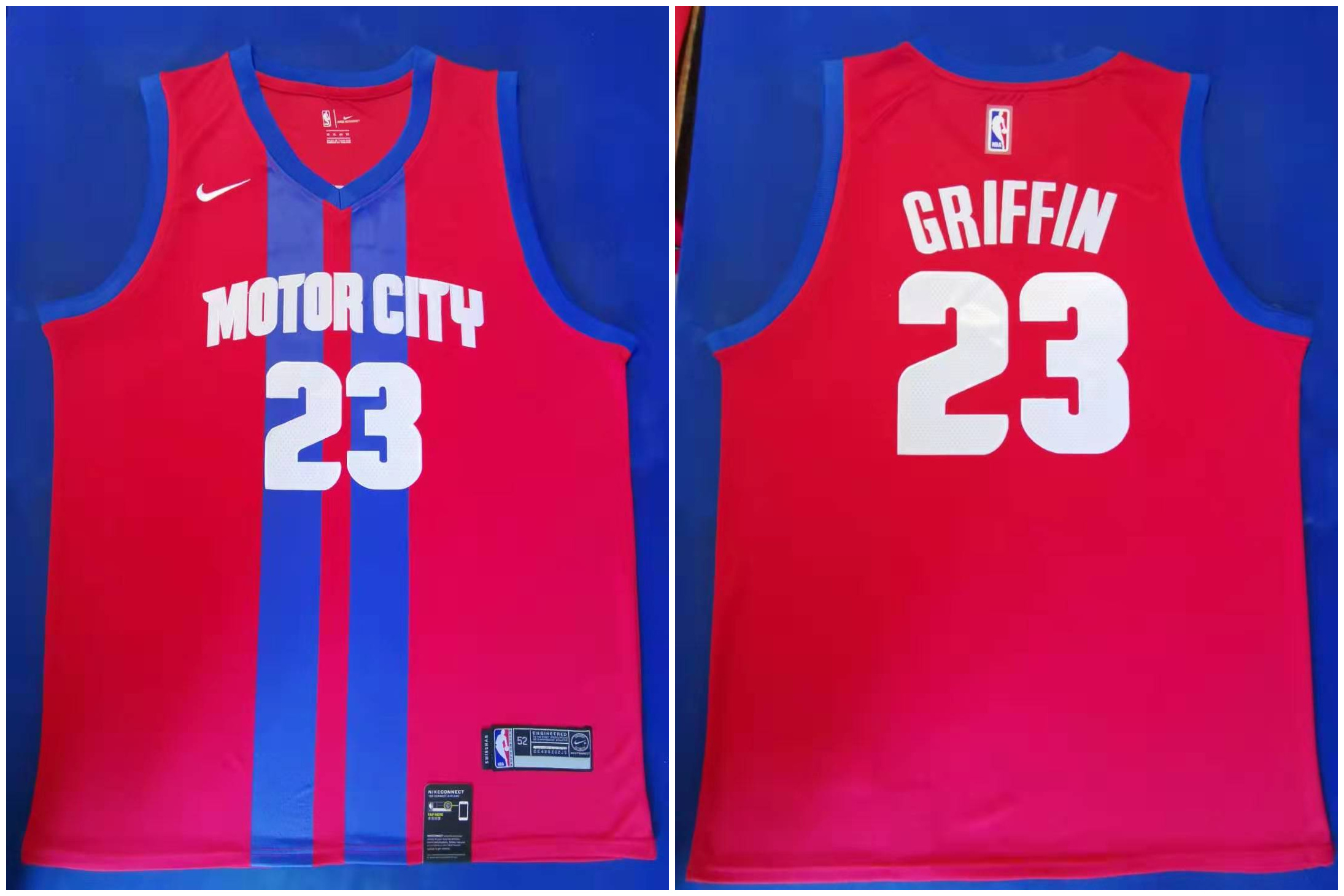 Pistons 23 Blake Griffin Red 2019-20 City Edition Nike Swingman Jersey