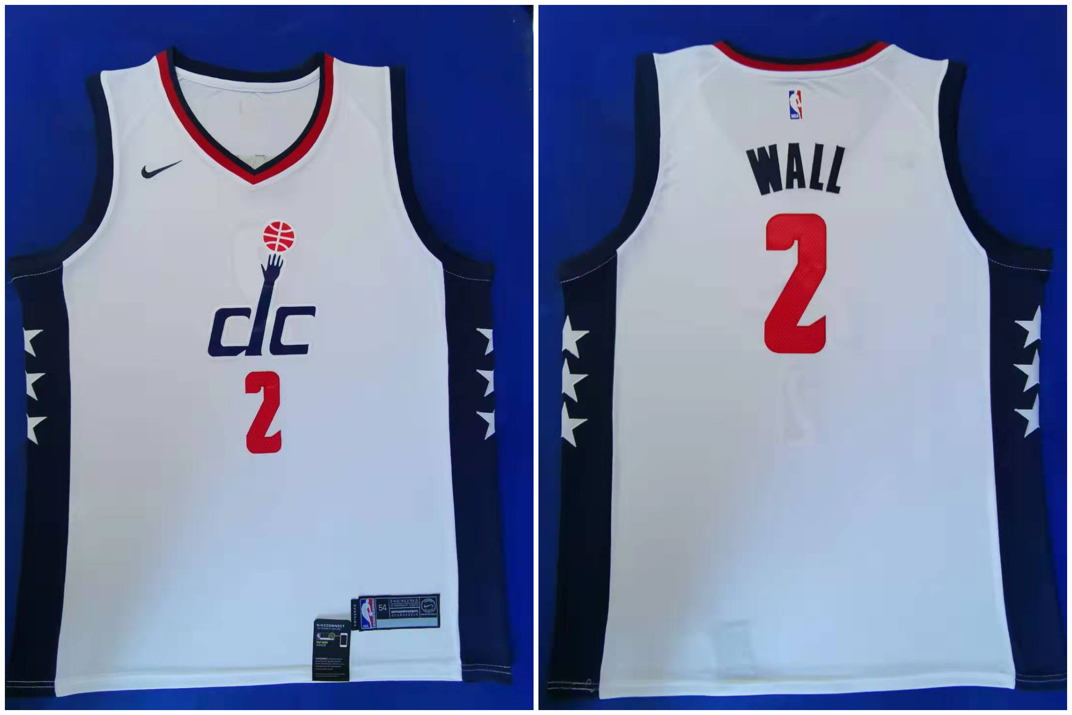 Wizards 2 John Wall White 2019-20 City Edition Nike Swingman Jersey