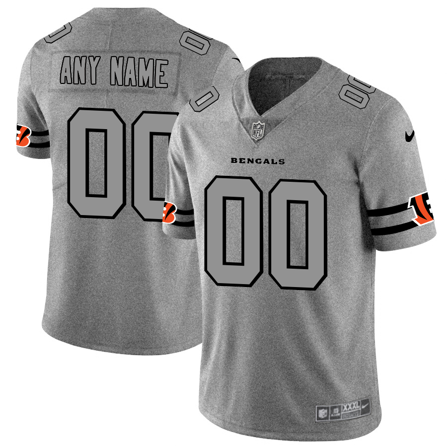Nike Bengals Customized 2019 Gray Gridiron Gray Vapor Untouchable Limited Jersey