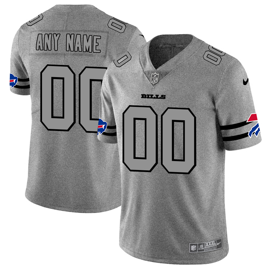 Nike Bills Customized 2019 Gray Gridiron Gray Vapor Untouchable Limited Jersey