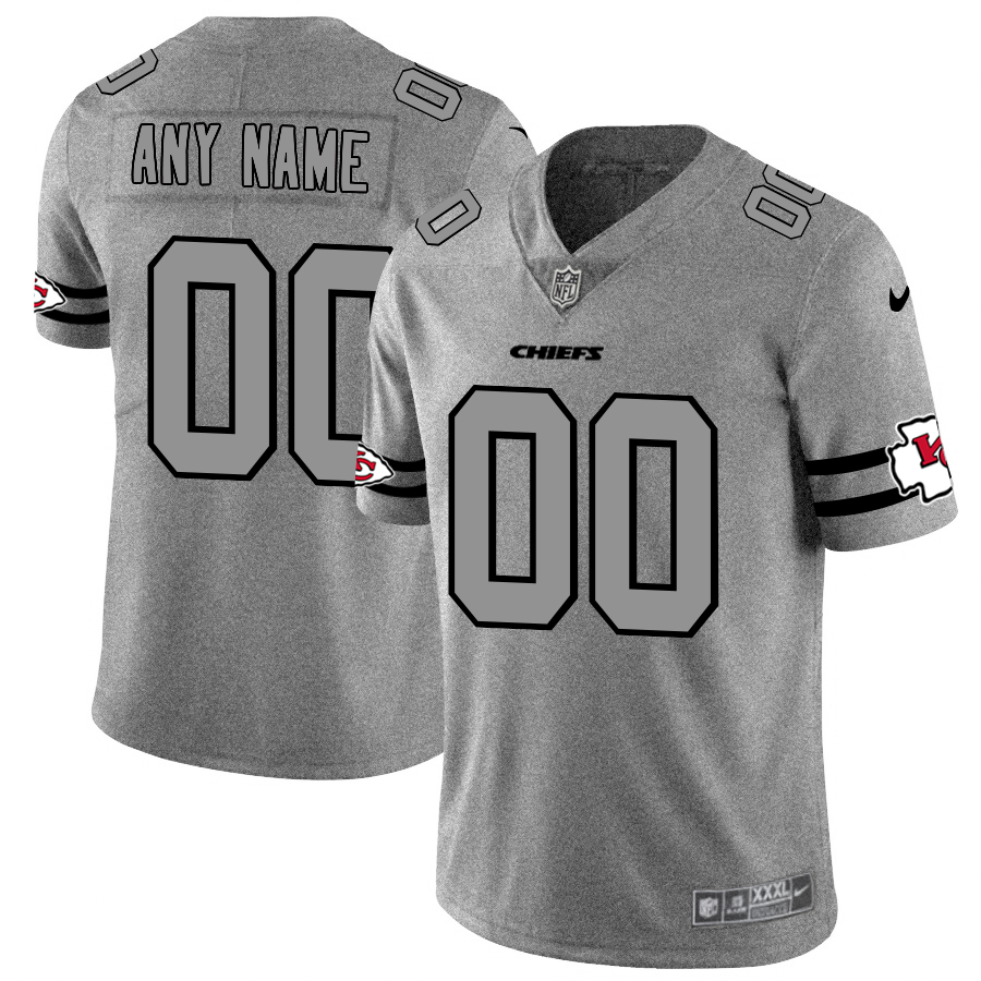 Nike Chiefs Customized 2019 Gray Gridiron Gray Vapor Untouchable Limited Jersey