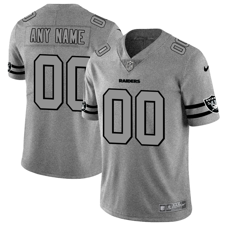 Nike Raiders Customized 2019 Gray Gridiron Gray Vapor Untouchable Limited Jersey