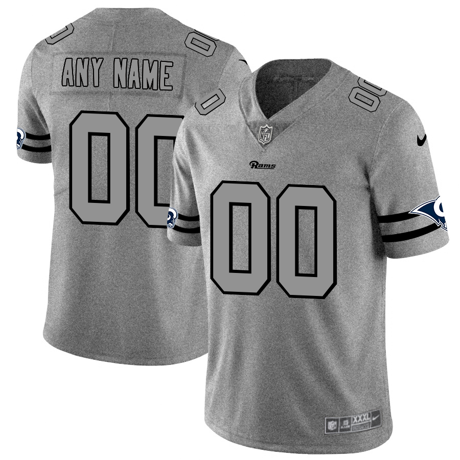 Nike Rams Customized 2019 Gray Gridiron Gray Vapor Untouchable Limited Jersey