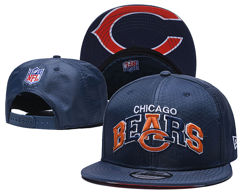 Bears Team Logo Navy Adjustable Hat TX