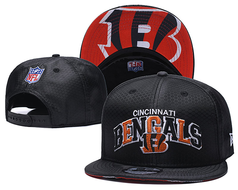 Bengals Team Logo Black Speak Adjustable Hat TX