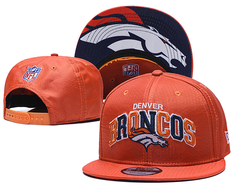 Broncos Team Logo Orange Adjustable Hat TX