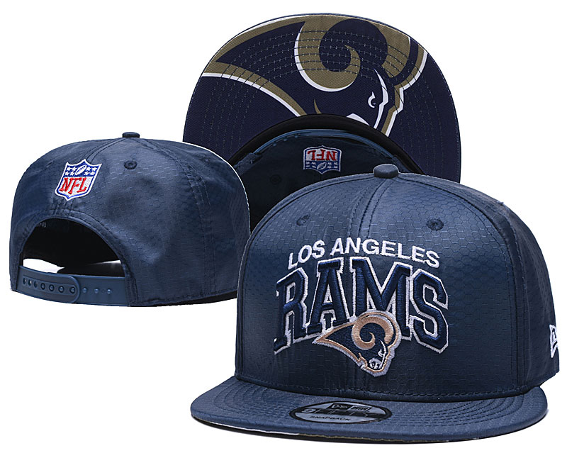 Rams Team Logo Navy Adjustable Hat TX