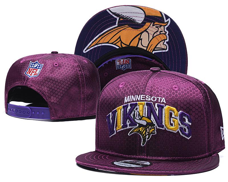 Vikings Team Logo Purple Adjustable Hat TX