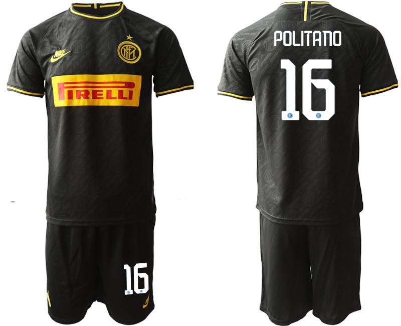 2019-20 Inter Milan 16 POLITANO Third Away Soccer Jersey
