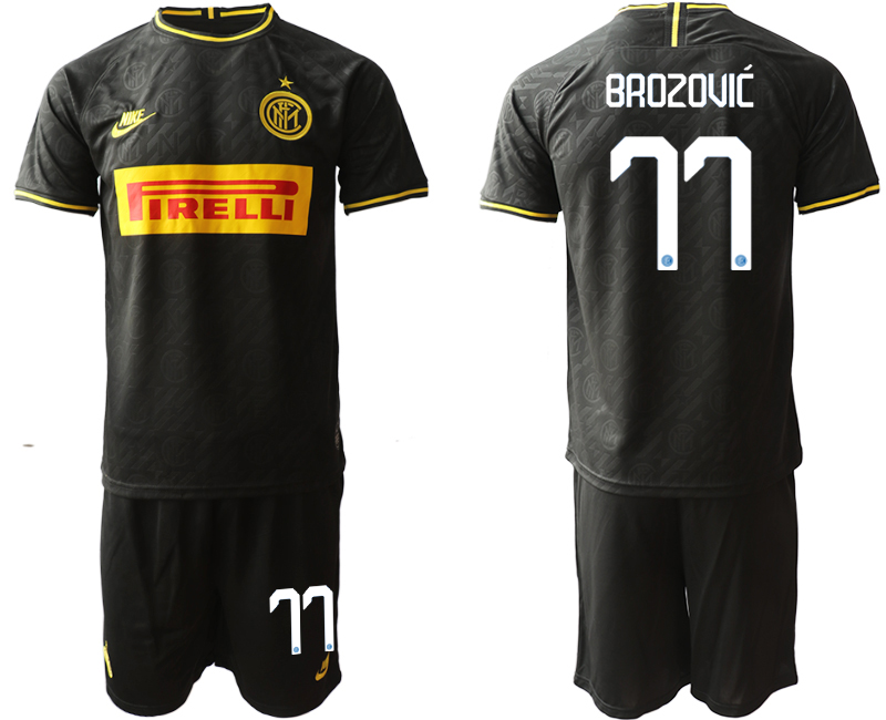 2019-20 Inter Milan 77 BROZOVIC Third Away Soccer Jersey
