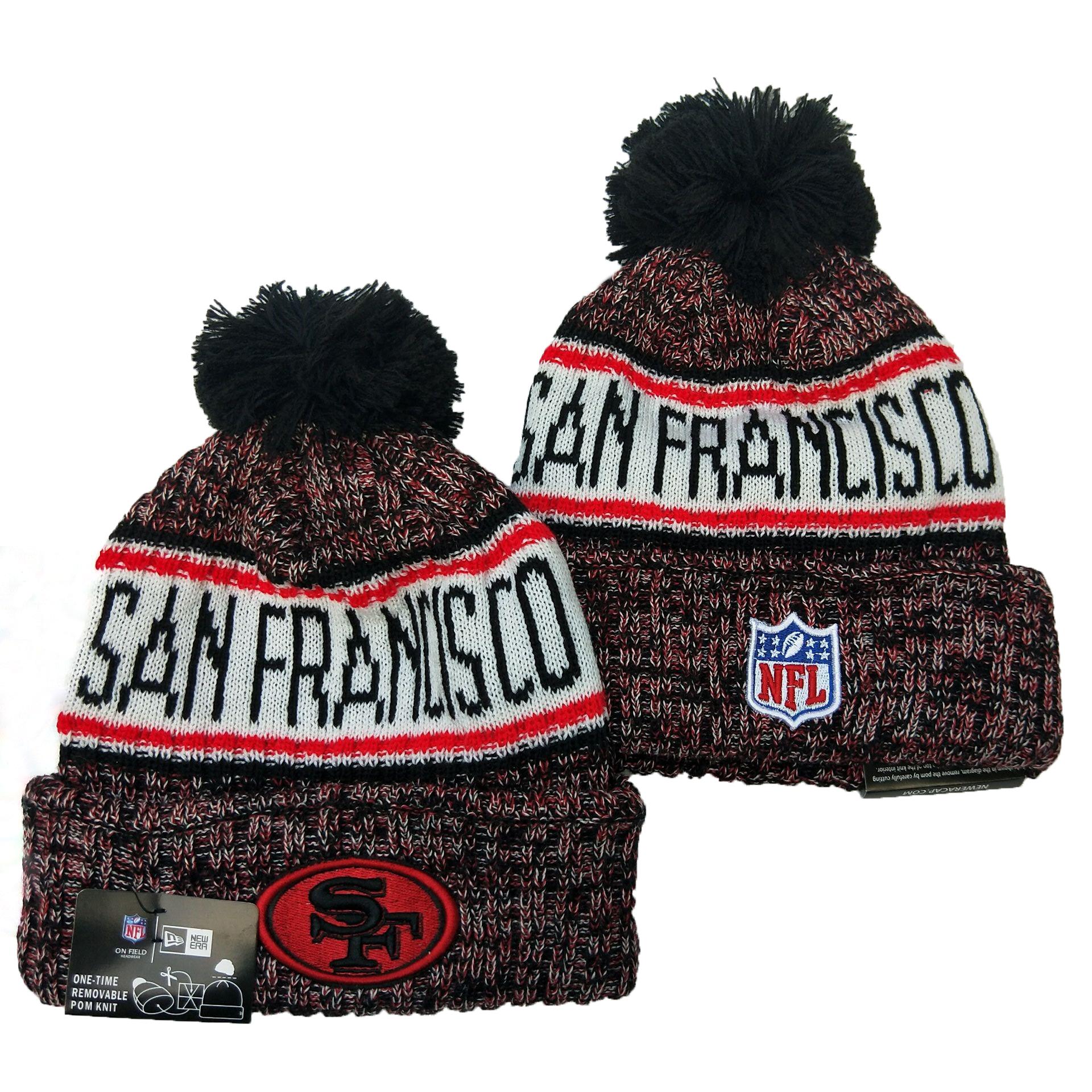 49ers Team Logo Pom Knit Hat YD
